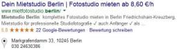 Google Suchergebnis Rating