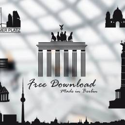 Free Vektor BErlin Skyline Set zum gratis Download