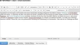 CMS Content-Eeditor Webseite bearbeiten DNN