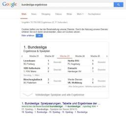 Google zeigt wissen direkt in Suchergebnissen
