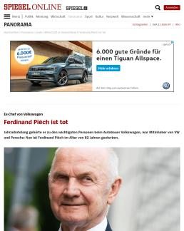Ads Onlinewerbung Fail VW Ferdinand Piëch